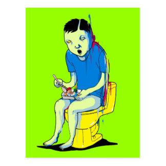 Spela på toaletten vykort