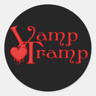 Spela vamp serien för slampamässahjälten runt klistermärke