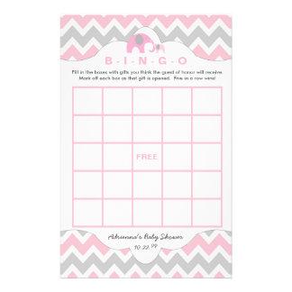 Spelar den rosa elefantbaby shower för personligen reklamblad 14 x 21,5 cm