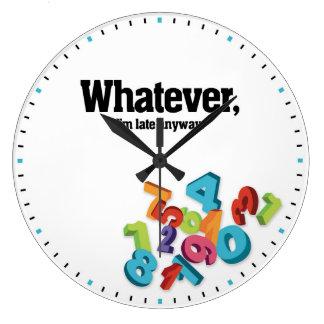 Spelar ingen roll dekorativa väggen för stor klocka