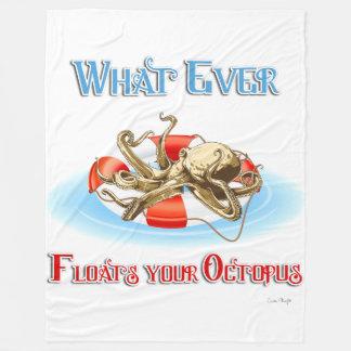 Spelar ingen roll flöten din bläckfisk fleecefilt