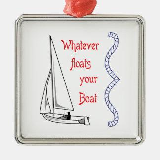 Spelar ingen roll flöten ditt fartyg julgransprydnad metall