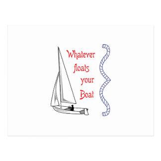 Spelar ingen roll flöten ditt fartyg vykort