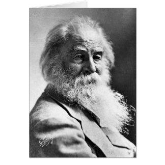 Spelar ingen roll förolämpningar för Walt Whitman Hälsningskort