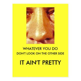 Spelar ingen roll gör du ser inte på andra sidan vykort
