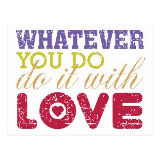 Spelar ingen roll gör gör du, det med kärlek vykort