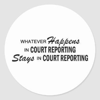 Spelar ingen roll händer - att anmäla för domstol runda klistermärken