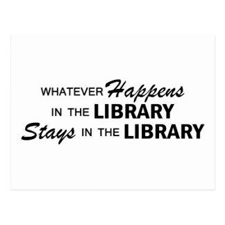 Spelar ingen roll händer - bibliotek vykort