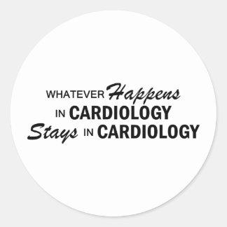 Spelar ingen roll händer - Cardiology Runda Klistermärken