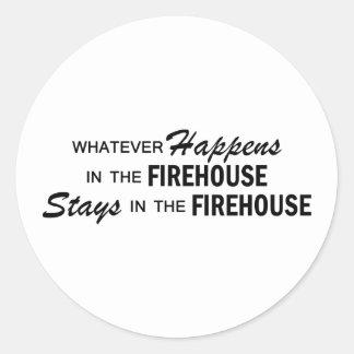 Spelar ingen roll händer - firehousen runt klistermärke