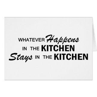 Spelar ingen roll händer - kök hälsningskort