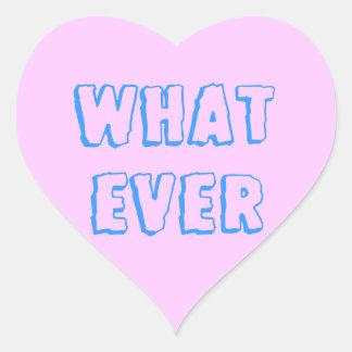 SPELAR INGEN ROLL hjärtaklistermärke Hjärtformat Klistermärke
