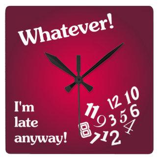 Spelar ingen roll - I-förmiddag sent på något sätt Fyrkantig Klocka