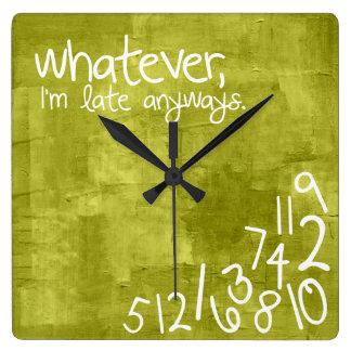 spelar ingen roll I-förmiddag sent på vilket sätt Fyrkantig Klocka