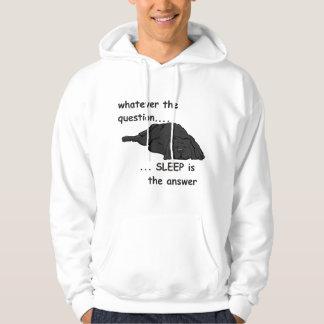 spelar ingen roll ifrågasätta… hoodie