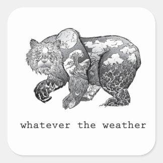 spelar ingen roll kvadrerar väder klistermärken