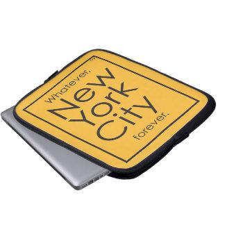 Spelar ingen roll New York City för alltid Laptop Sleeve