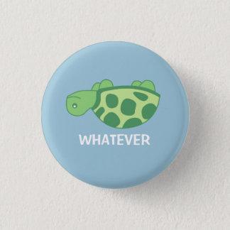 Spelar ingen roll sköldpadda mini knapp rund 3.2 cm