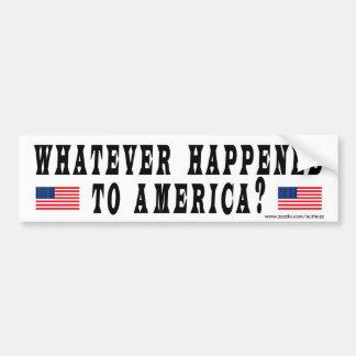 Spelar ingen roll som händs till Amerika? Bildekal