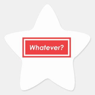 Spelar ingen roll? stjärnformat klistermärke