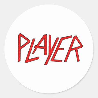 spelare runt klistermärke