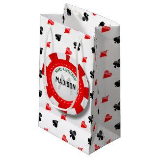 Spelare chip för poker för jul Monogrammed