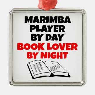 Spelare för bokälskareMarimba Julgransprydnad Metall