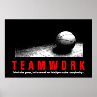 Spelare för citationstecken för Teamworkbasket Poster