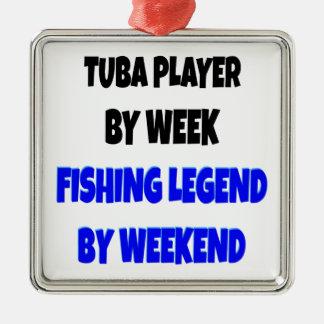 Spelare för fiskelegendTuba Julgransprydnad Metall