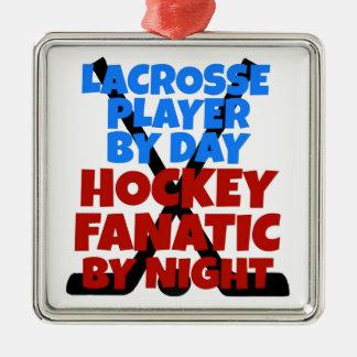 Spelare för hockeyälskareLacrosse Julgransprydnad Metall