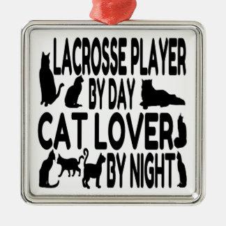 Spelare för kattälskareLacrosse Julgransprydnad Metall