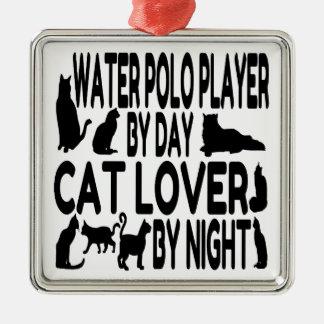 Spelare för Polo för kattälskarevatten Julgransprydnad Metall