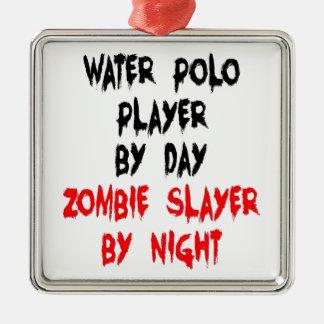 Spelare för Polo för ZombieSlayervatten Julgransprydnad Metall