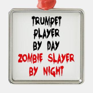 Spelare för ZombieSlayertrumpet Julgransprydnad Metall