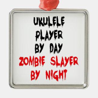Spelare för ZombieSlayerUkulele Julgransprydnad Metall