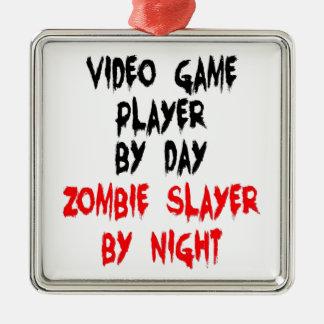 Spelare för ZombieSlayervideospel Julgransprydnad Metall