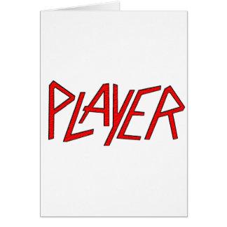 spelare hälsningskort