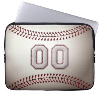 Spelare numrerar 00 - kall baseball syr laptop sleeve