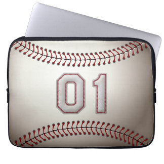 Spelare numrerar 01 - kall baseball syr laptop fodral