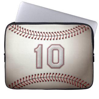 Spelare numrerar 10 - kall baseball syr laptop sleeve