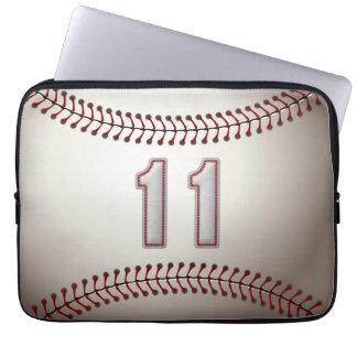 Spelare numrerar 11 - kall baseball syr laptop sleeve