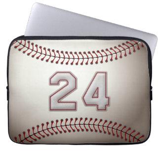 Spelare numrerar 24 - kall baseball syr laptop sleeve