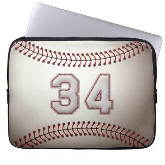 Spelare numrerar 34 - kall baseball syr laptop sleeve