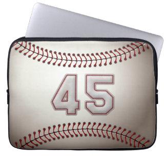 Spelare numrerar 45 - kall baseball syr laptop sleeve