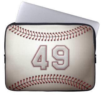 Spelare numrerar 49 - kall baseball syr laptop sleeve