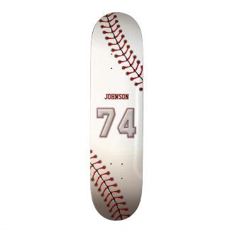 Spelare numrerar 74 - kall baseball syr skateboard