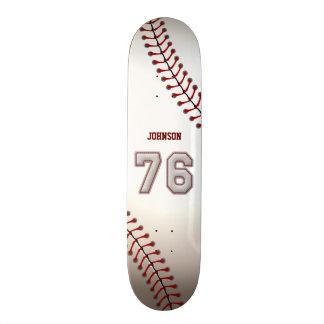 Spelare numrerar 76 - kall baseball syr skate board