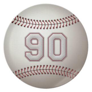 Spelare numrerar 90 - kall baseball syr fest tallrikar