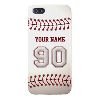 Spelare numrerar 90 - kall baseball syr iPhone 5 hud
