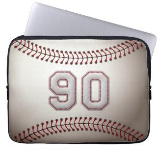 Spelare numrerar 90 - kall baseball syr laptopskydd
